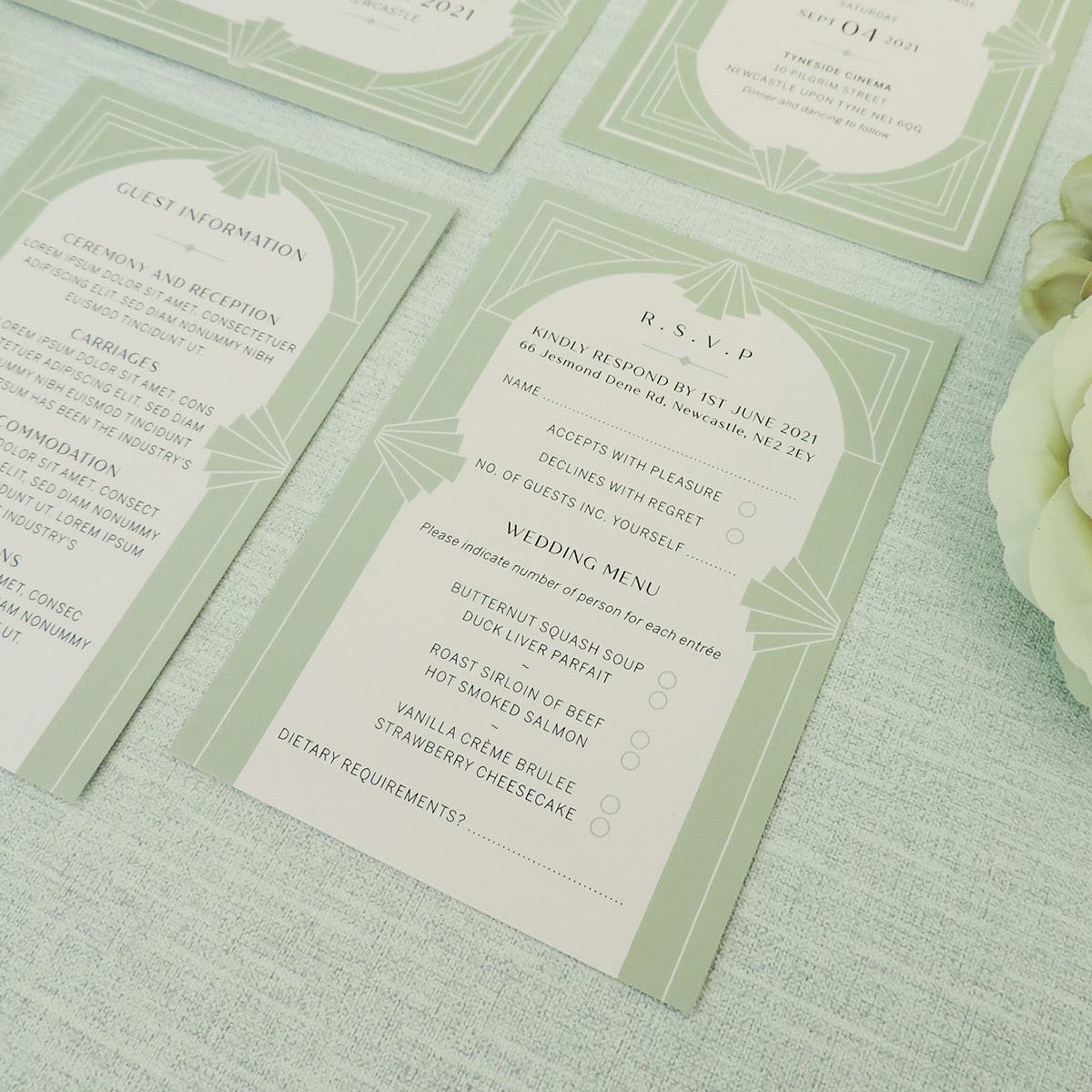 Willow Art Deco RSVP