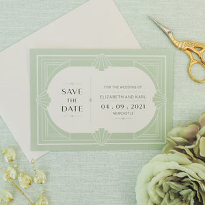Willow Art Deco Save The Date