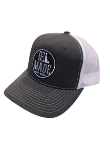 DEL Made SnapBack Hat (Charcoal/White)
