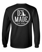 Load image into Gallery viewer, DEL Made L/S-Black Front/Back Logo