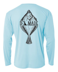 DEL Made Performance UV SPF+50 Flounder Shirt