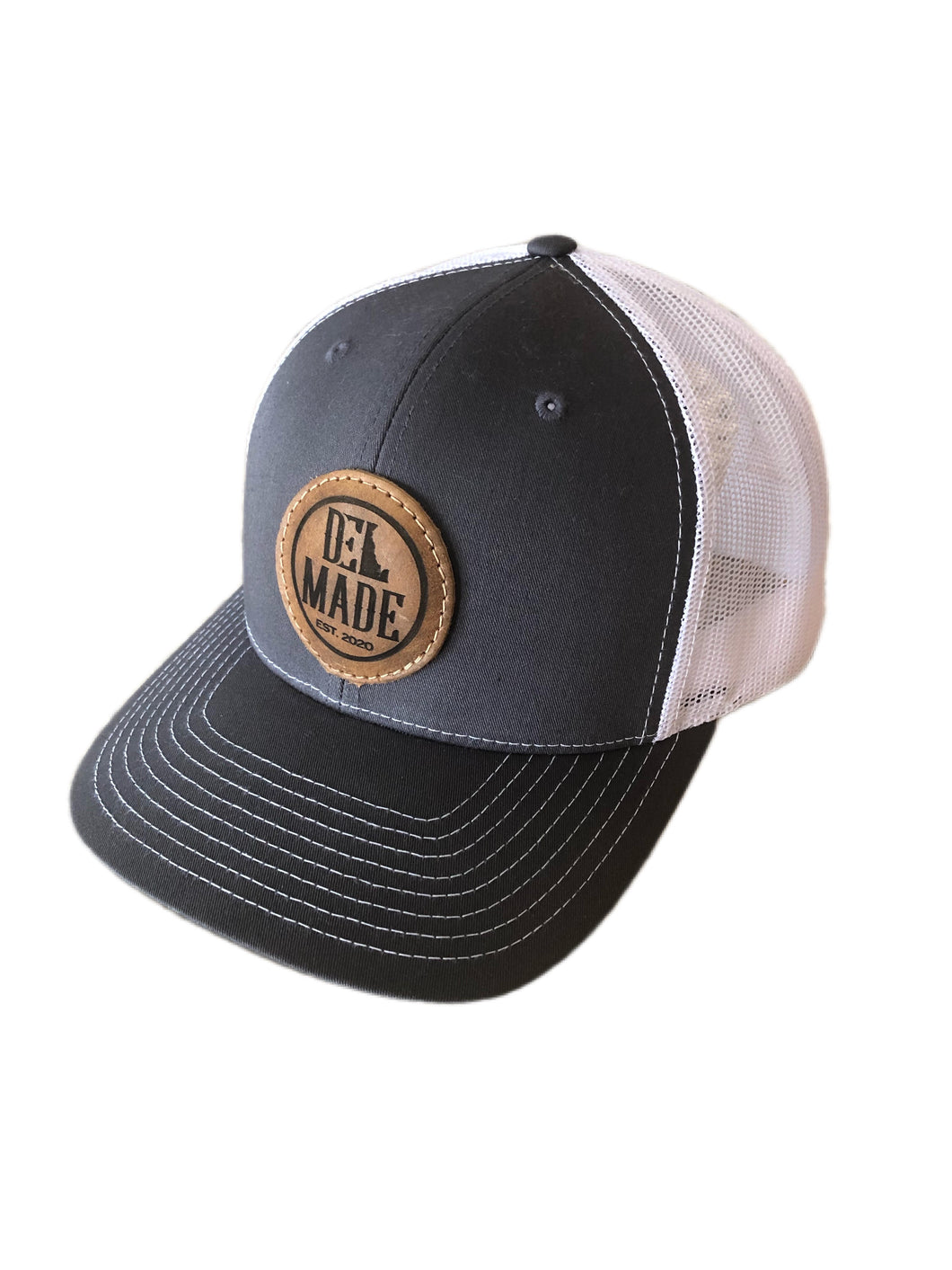 DEL Made Leather Patch Snapback