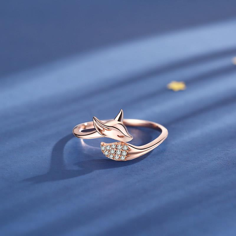 Cubic Zirconia Fox Ring