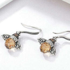 Sterling Silver Bee Earrings
