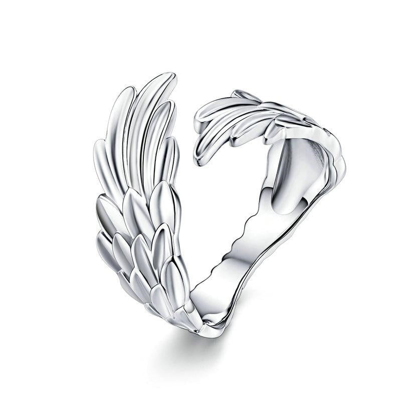 Sterling Silver Wings Ring
