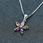 Cubic Zirconia Starfish Necklace