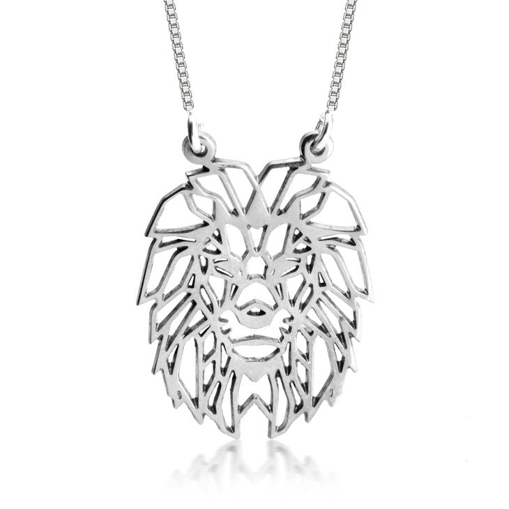 Origami Lion Necklace