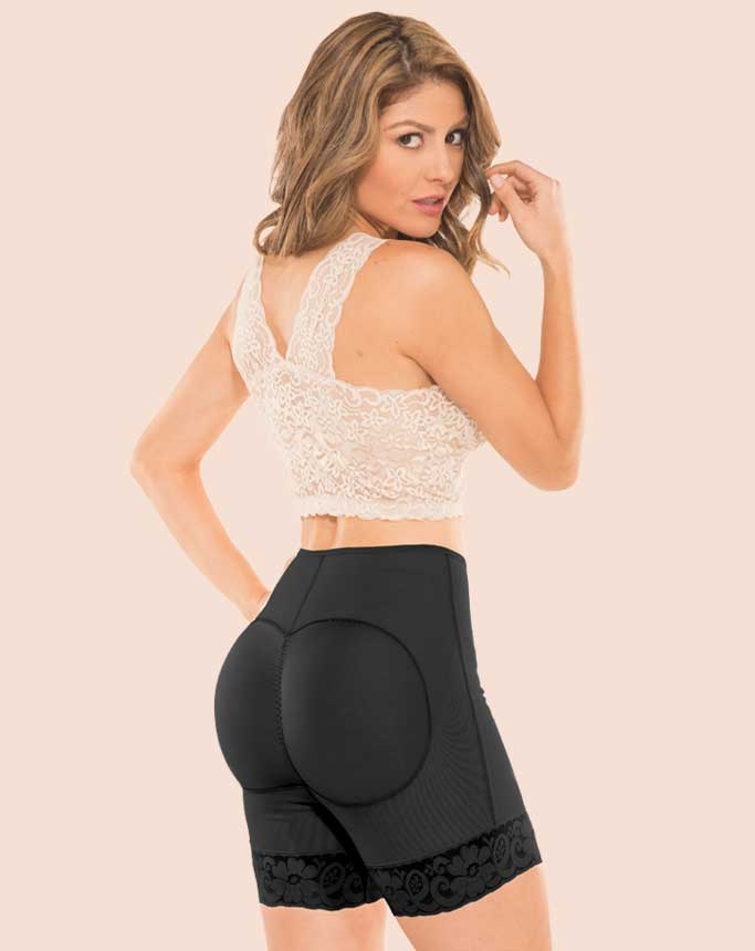 Powernet Booty Lifting Short Black - Zlimmy