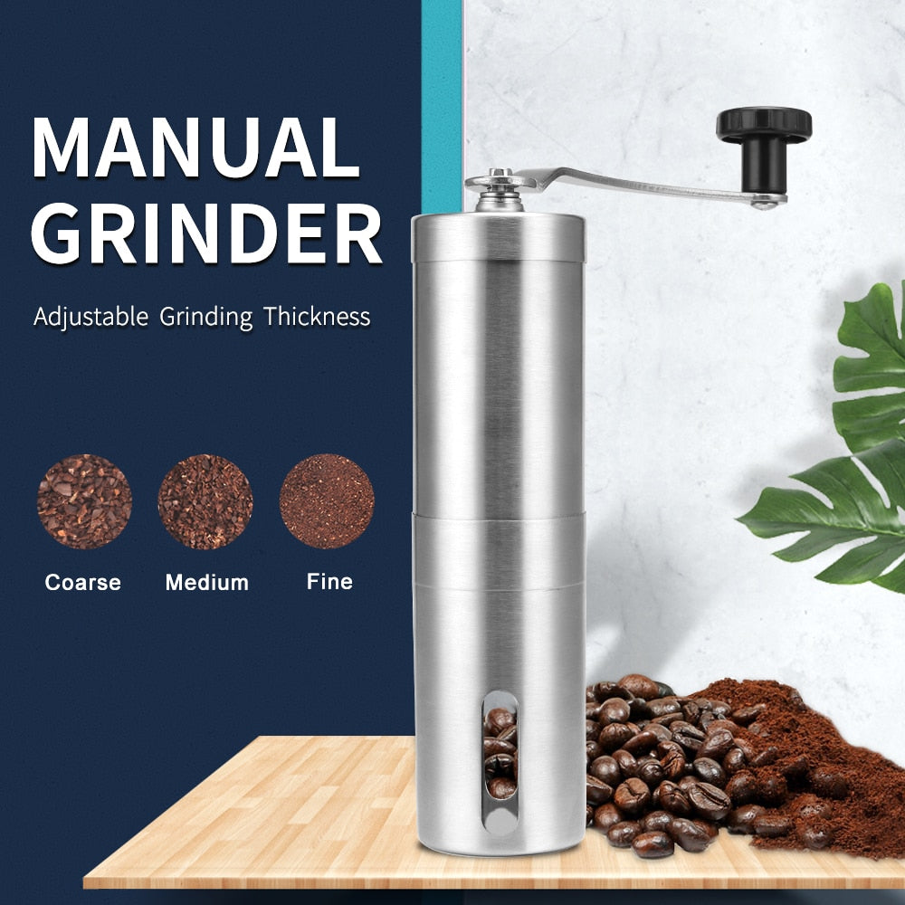 Stainless Steel Manual Coffee Grinder - Forever Green