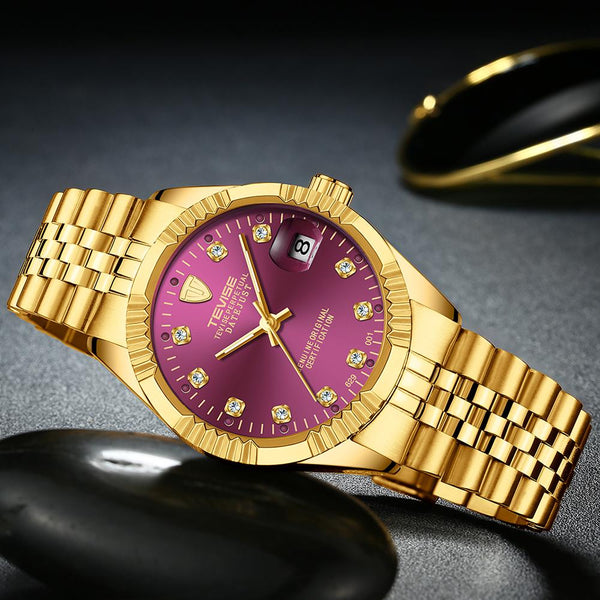 Singulier Watches tevise datejust purple automatic luxury homage watch