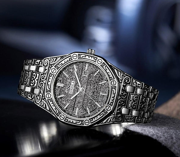 Singulier watches King fully engraved antique looking affordable unique quality quartz watch