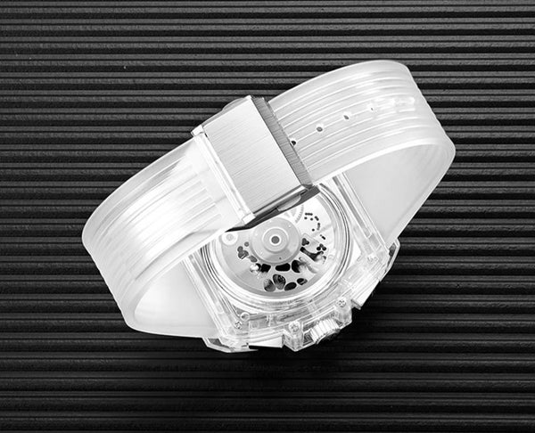 Singulier Watches - Translucent. Transparent plastic design watch.