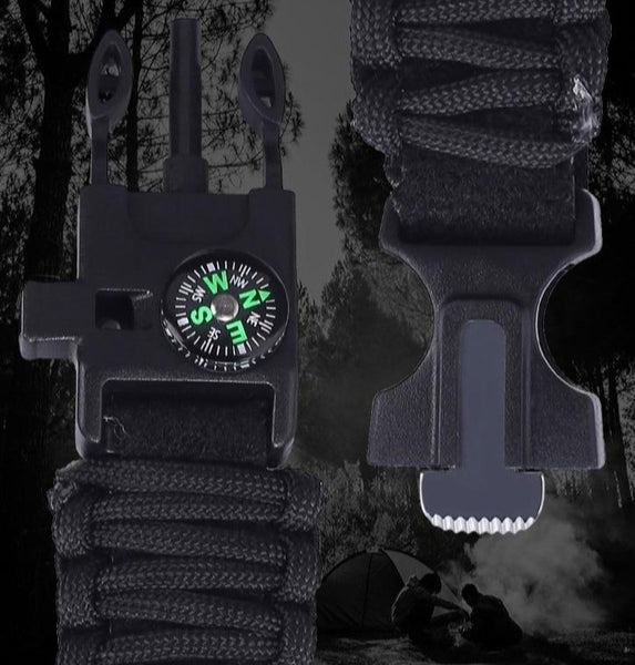 This watch is the watches' Victorinox and it is not joking around. How about these features: compass, thermometer, whistle and a built-in umbrella rope(!). This is a pure survival watch with B.A.D.A.S.S. looks, rich on features and as tough as it gets. Don't go camping without one!