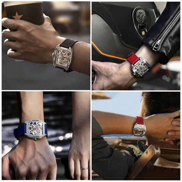 Singulier Watches - CIGA Design watch Hollow mechanical state of the art design watch on sale.