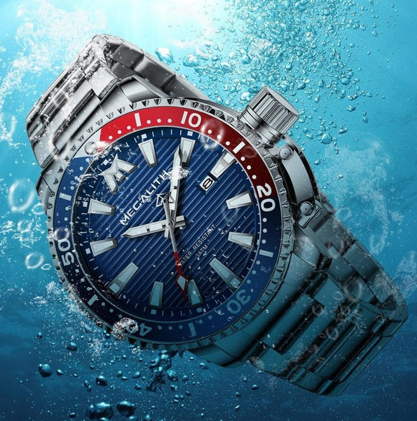 Singulier watches - Vigorous - High-quality men's diver quartz watch. Megalith