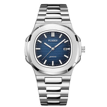 Load image into Gallery viewer, Elegant and modern timepiece with stainless steel body and bracelet. Water resistant, luminous hands, calendar with auto date. Available in many variants to suit all occasions.    Movement: QUARTZ Water Resistance Depth: 3Bar Case Material: Stainless Steel Dial Window Material: Hardlex Mineral Glass Band Material: Stainless Steel Dial Diameter: 44mm Case Thickness: 10mm Band Width: 22mm Band Length: 25.5cm Features: Complete Calendar, Auto Date, Luminous Hands, Water Resistant, Shock Resistant