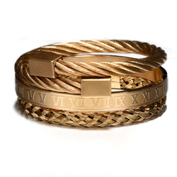 Luxury 3pcs Roman Bracelet