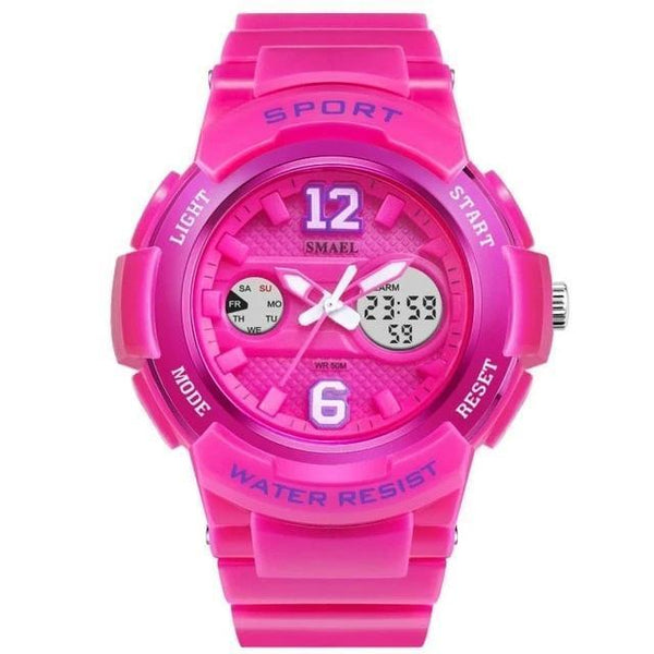 Singulier watches. Cheerleader. Center of attention? No? - Wanna be? Watch made for girls who want to make a statement. Non-discrete, sporty and cute. Dual time zone movement, stop watch and alarm are among the features.