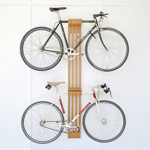 Bike Rest Dual |  Work shop Objects hand made timber bike rack