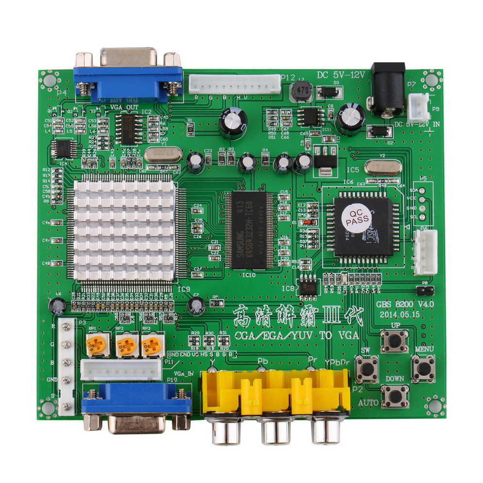 RGB/CGA/EGA/YUV to VGA HD Video Converter Board HD9800/GBS8200 for Arcade Green Manual