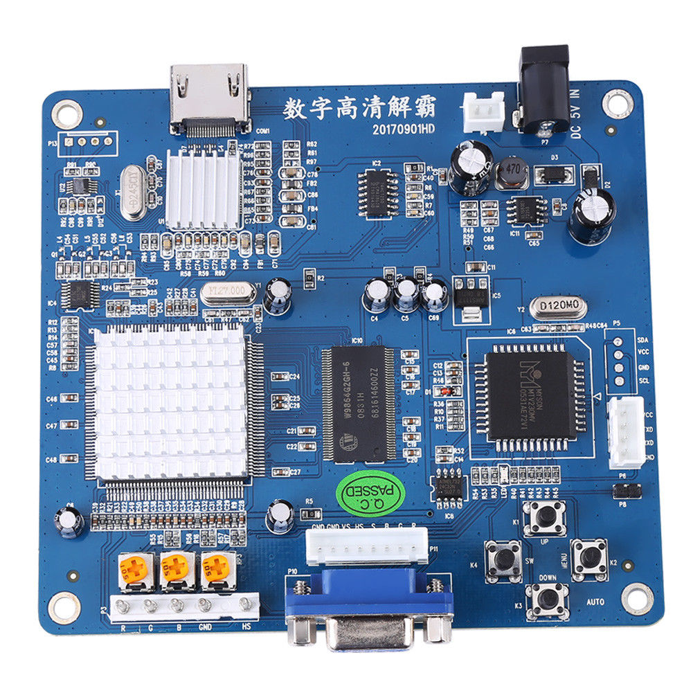 VGA/RGB/CGA/EGA/YUV TO HDMI Video Output Converter Board HD for Arcade Blue Manual