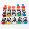 American Style Chrome Plating 28mm Hole Illuminated Push Buttons With Micro Switch