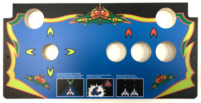 Skinned Galaga Replacement CPO Control Deck for Arcade1Up Countercade