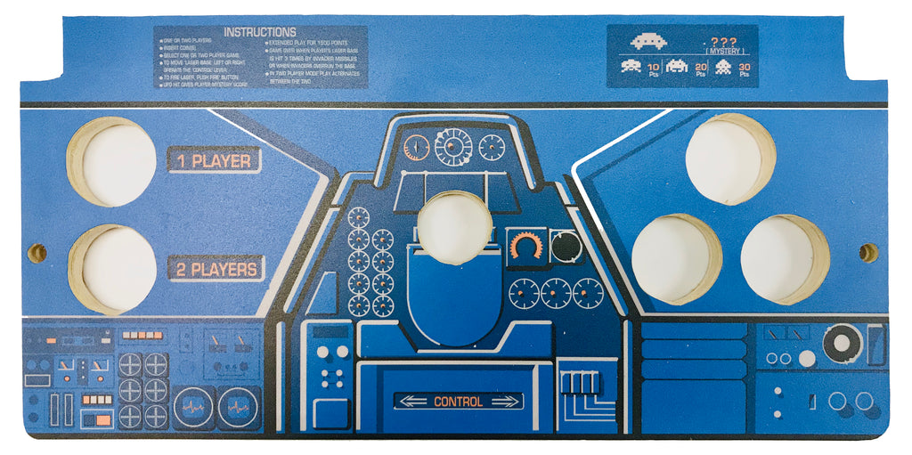 Skinned Space Invaders Replacement CPO Control Deck for Arcade1Up Gen1 Countercade