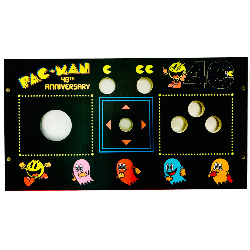 PacMan 40th Anniversary Trackball Replacement CPO Control Deck for Arcade1Up Cabaret Style
