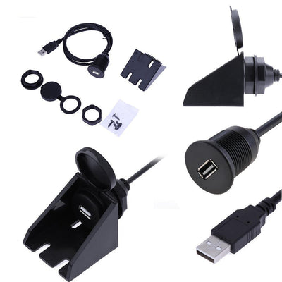 Flush Mount USB 2.0 Socket Extension Lead Cable