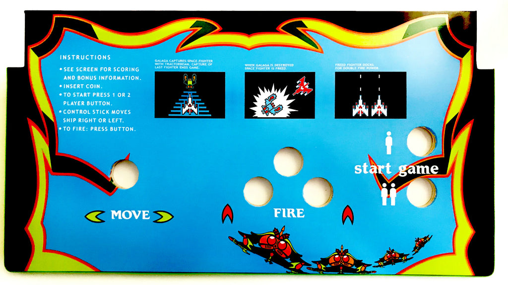 Skinned Galaga Replacement 60 In 1 Control Deck for Arcade1Up Without Trackball