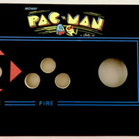 Skinned Pac Man Replacement 60 In 1 Control Deck for Arcade1Up With Trackball Mount