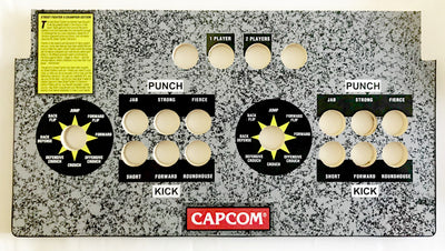 Skinned American Style Street Fighter Replacement CPO Control Deck for Arcade1Up