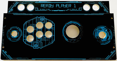 Skinned Ready Player 1 Trackball Replacement CPO Control Deck for Arcade1Up Raspberry Pi Mame