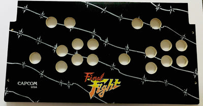 Skinned Final Fight Replacement Control Deck for Arcade1Up