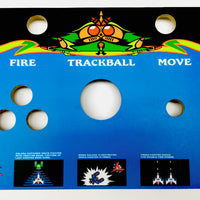 Skinned Galaga 2 Player With Trackball Replacement Control Deck for Arcade1Up
