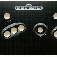 Skinned Sega Genesis Replacement Control Deck for Arcade1Up