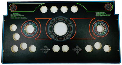 Skinned Tron Cut For GRS Trackball / Spinner / Flight Stick Replacement Control Deck for Arcade1Up