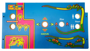Skinned Ms Pacman Galaga 20 Year Reunion Replacement Control Deck for Arcade1Up