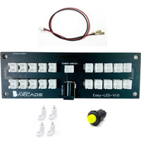 Easy LED Install Kit for Buttons with Power Switch Plug and Play Arcade and Arcade1up