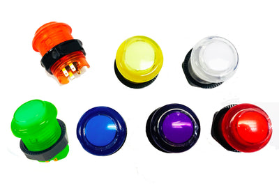 One Piece Design 28mm LED 12V Illuminated Buttons Switch