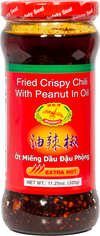 Dragonfly Extra Hot Fried Crispy Chili with Peanut in Oil