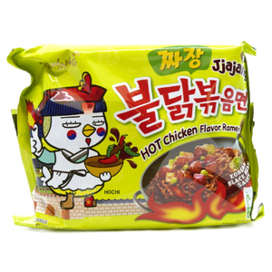 Samyang Instant Noodle Spicy Chicken JjaJang Black Bean - Pacific Noodle Company