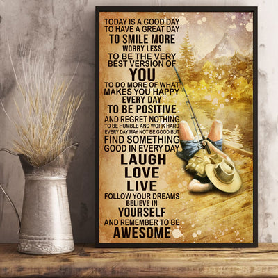 Today's Good Day To Have A Great Day To Smile More Love Fishing Poster - Bewished Online clothing shop