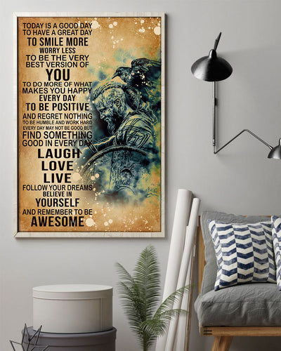 Today's Good Day To Have A Great Day To Smile More Viking Poster - Bewished Online clothing shop