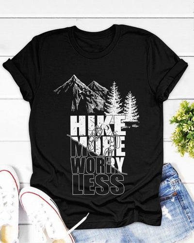 Hike More Worry Less Shirts - Bewished Online clothing shop