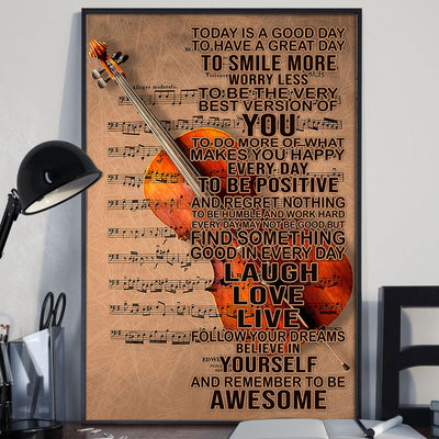 Beautiful To Day Is A Good Day With Cello Poster - Bewished Online clothing shop