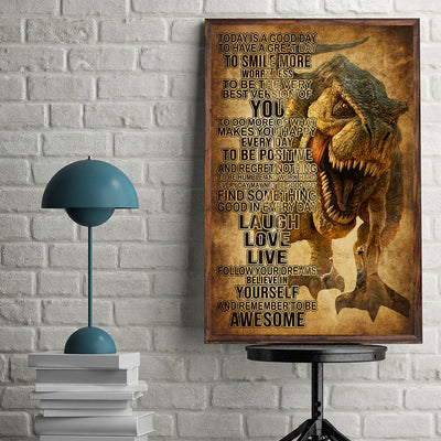 Beautiful Dinosaur Tyrant Poster - Bewished Online clothing shop