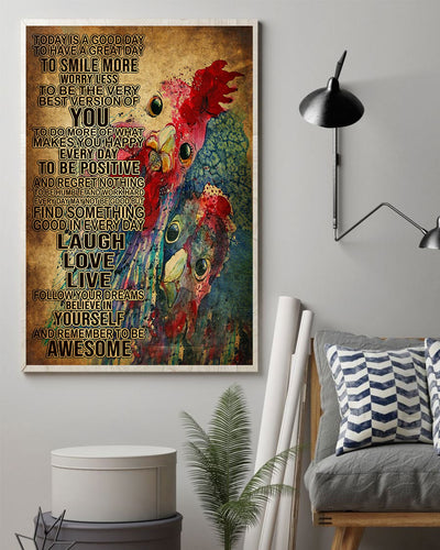 Beautiful Chicken Art Poster - Bewished Online clothing shop