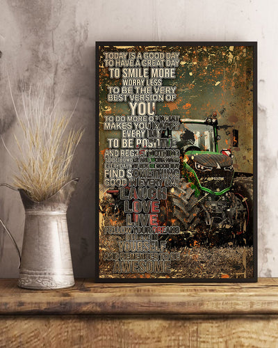 Beautiful Today Is A Good Day With Tractor Poster - Bewished Online clothing shop